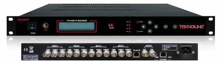 TVE-04-IP IP ENCODER-CVBS A.V>ASI-IPTV