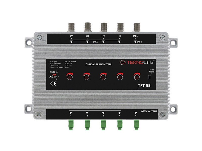 [TFT-55] Fiber Optik Transmitter 1 SAT + 1 MDU (5 IF)