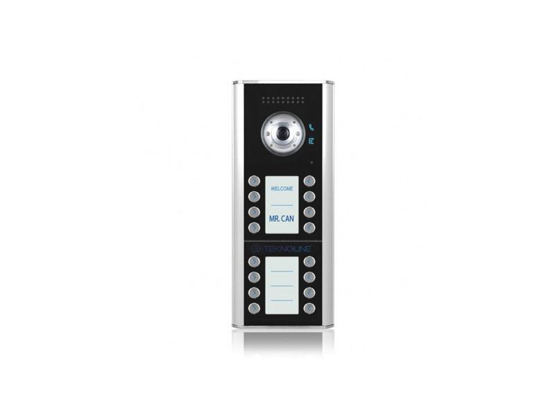[TMR/12/D16] Renkli Kameralı Dış Kapı Paneli (16 daire)