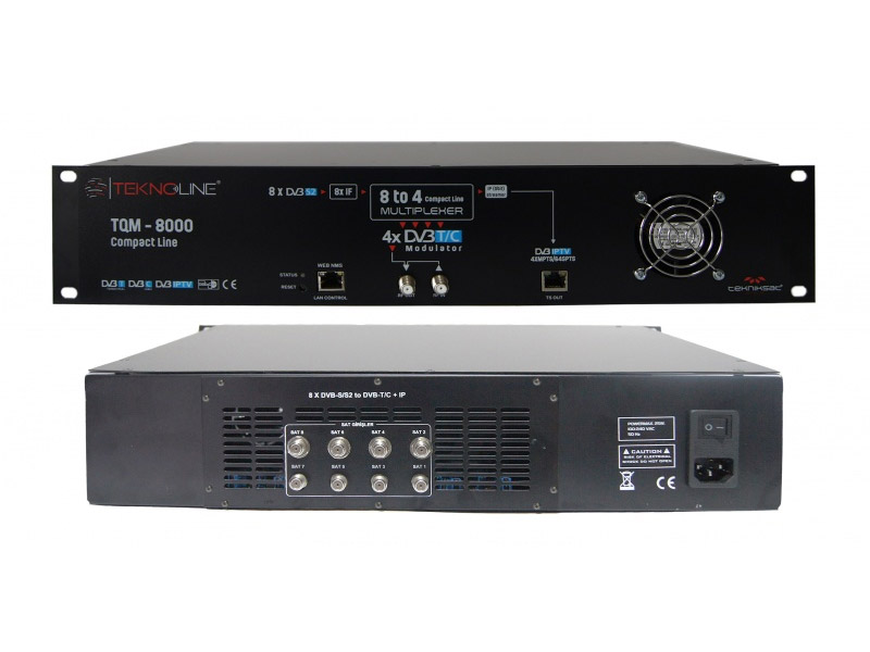 [TQM - 8000] TQM - 8000 - 8 X Tuner+CI -> 4 X DVB-T/C + IP QAM MODULATOR